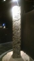 Photograph of side 1 of the North Cross, Clonmacnoise
