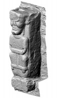 Perspective view 2 of early Christian figure 2 at White Island,Co. Fermanagh