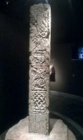 Photograph of side 2 of the North Cross, Clonmacnoise