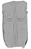 Plan view of decorated cross slab 108, Clonmacnoise