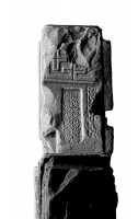 View under left arm of Eastern High Cross, Kells