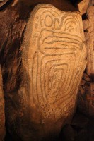 Photograph of the decorated Guardian Stone, Knowth