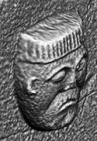 Perspective view 1 of early Christian figure 8 at White Island, Co. Fermanagh