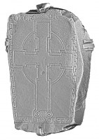 Perspective view of cross slab 86, Clonmacnoise