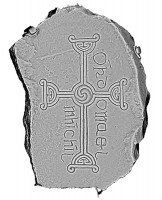 Plan view of decorated cross slab 142, Clonmacnoise