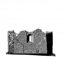 Elevation front section view 1 of untextured 3D model of St Mary's Church, Glendalough