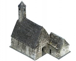 Perspective view 4 of textured model of St Kevin's Church, Glendalough