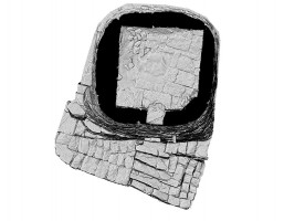 Plan section view of Cell B, Skellig Michael