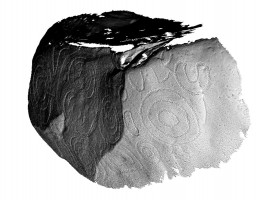 Perspective view 1 of decorated kerbstone 79, Knowth