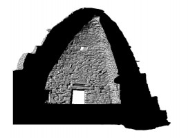 Rear elevation section view of Cell A, Skellig Michael