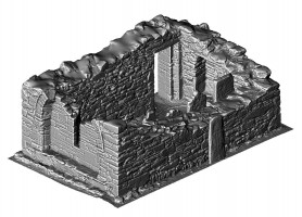 Perspective view of shaded 3d mdoel of the Priest's House, Glendalough