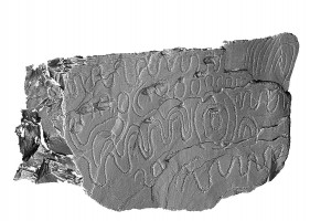 Perspective view 2 of decorated kerbstone 78, Knowth