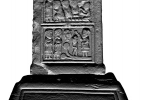 Panel 1 on eastern shaft of Western High Cross, Kells