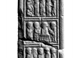 Panel 4 on eastern shaft of Western High Cross, Kells