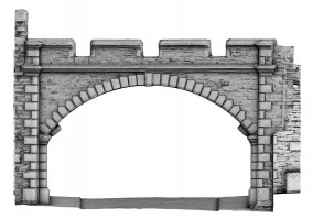 Front elevation view of New Gate, Derry City Walls