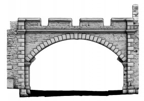 Rear elevation view of New Gate, Derry City Walls