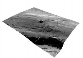 Perspective view 3 of the Dowth Archaeological Complex digital terrain model (DTM)