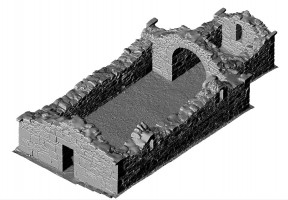 Isometric view of 3D model of Reefert Church, Glendalough