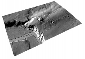 Perspective view 1 of the Knowth Archaeological Complex digital terrain model (DTM)