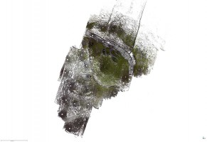 Plan view of Dúcathair Stone Fort point cloud