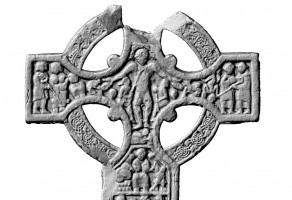 View of the cross face on the western side of the Market Cross, Kells