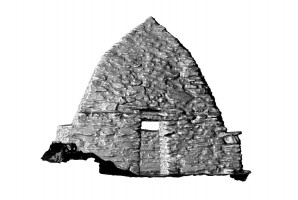 Front elevation view of Small Oratory, Skellig Michael