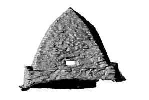 Rear elevation view of Small Oratory, Skellig Michael