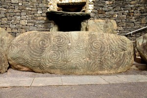 Photograph of the Entrance stone, Newgrange