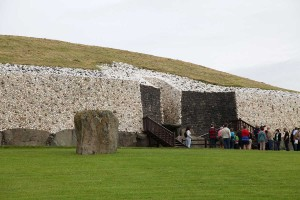 Photograph of entrance to passage chamber, Newgrange