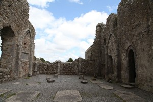 Internal photograph of The Cathedral, Clonmacnoise