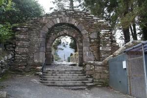 Internal photograph of The Gateway, Glendalough