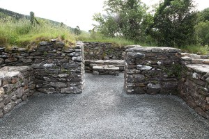 Internal photograph of St Keiran's Church, Glendalough
