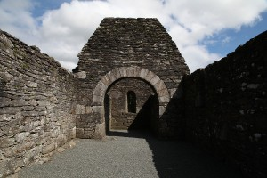 Internal photograph of Trinity Church, Glendalough