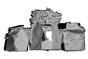Internal section view of front of Cairn T passage tomb, Loughcrew