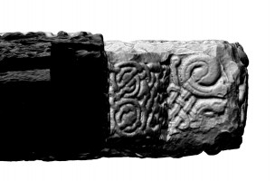 View under right arm of Southern High Cross, Kells