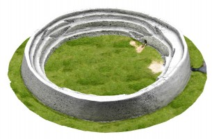Isometric image 1 of An Grianán 3D Model