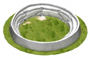 Isometric image 4 of An Grianán 3D Model