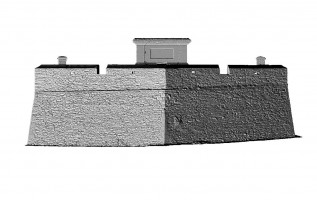 Front elevation of Royal Bastion, Derry City Walls