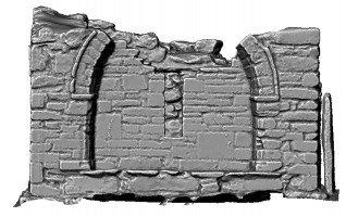 Elevations of shaded 3d mdoel of the Priest's House, Glendalough