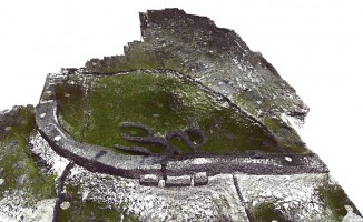 Perspective view 2 of Dúcathair Stone Fort point cloud