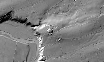 Plan view of the Knowth Archaeological Complex digital terrain model (DTM)