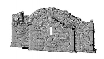 Elevation back 1 of 3D model of Reefert Church, Glendalough