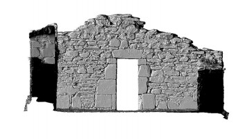 Elevation back 3 of 3D model of Reefert Church, Glendalough