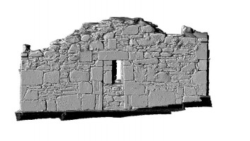 Elevation section 1 of 3D model of Reefert Church, Glendalough