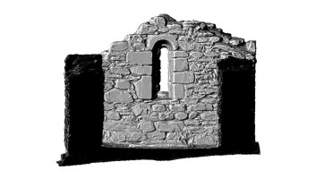 Elevation section 3 of 3D model of Reefert Church, Glendalough