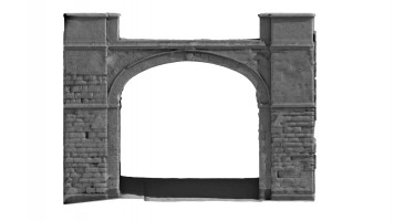 Front elevation of Butcher Gate, Derry City Walls