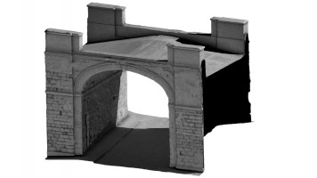 Front isometric view 1 of Butcher Gate, Derry City Walls
