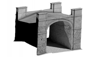 Front isometric view 2 of Butcher Gate, Derry City Walls