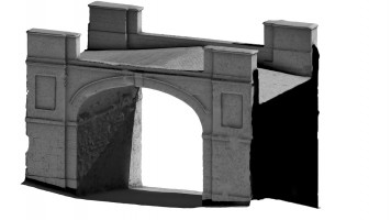 Rear isometric view 1 of Butcher Gate, Derry City Walls