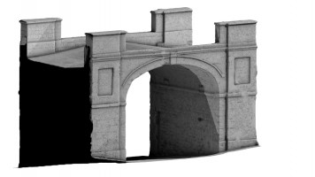 Rear isometric view 2 of Butcher Gate, Derry City Walls